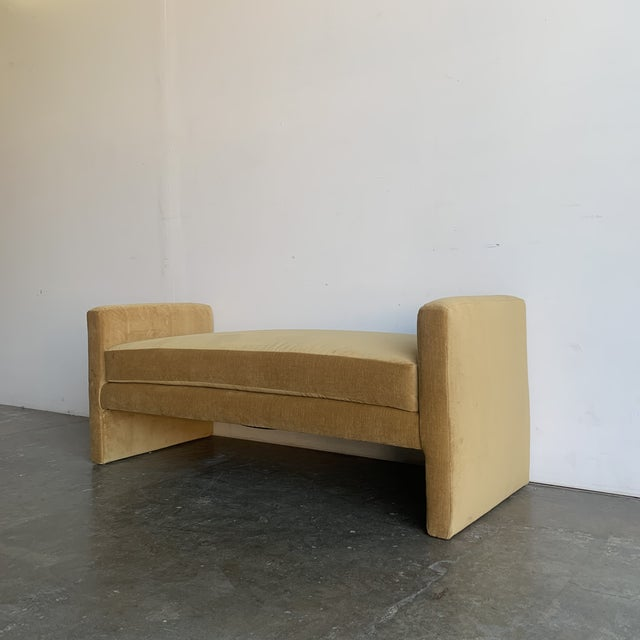 Post Modern Bench- Mustard For Sale - Image 4 of 13