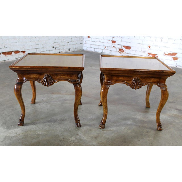 Traditional Vintage Brittiany for Heritage Hooved Side Tables - a Pair For Sale - Image 3 of 11