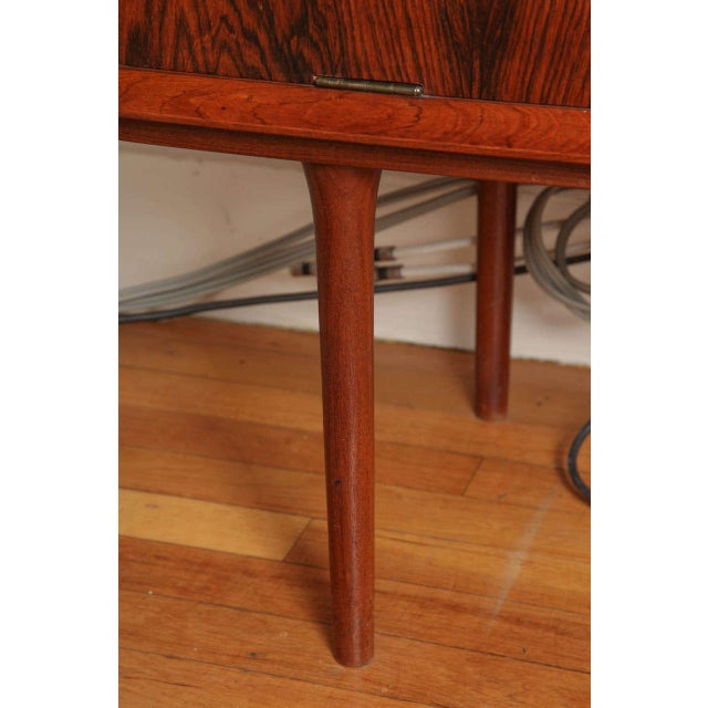 Brown Italian Mid Century Wood Bar/Media Cabinet For Sale - Image 8 of 11