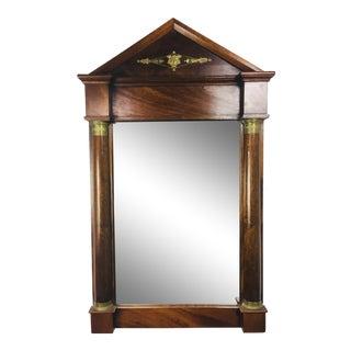19th Century Napoleon the Third Mahogany Mirror For Sale