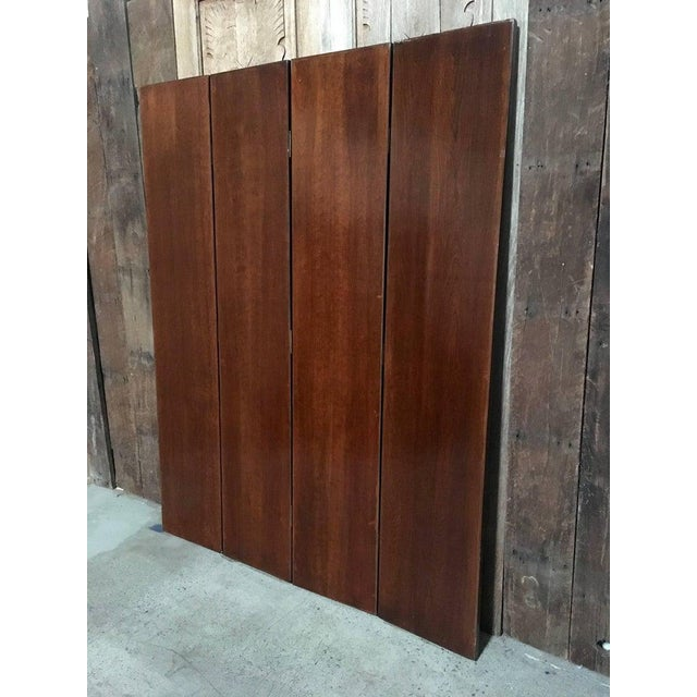 Belle Epoque 20th Century Leather Book Room Divider For Sale - Image 3 of 9