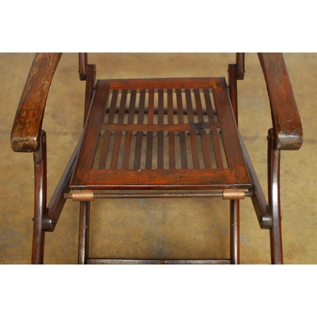 Antique Ocean Steamer Deck Chair - Image 3 of 7 - Antique Ocean Steamer Deck Chair Chairish