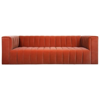 Monaco Sofa in Paprika Velvet For Sale
