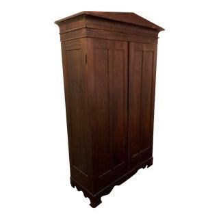 19th Century Empire Twin Door Armoire For Sale
