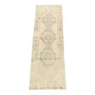 "Antique Turkish Oushak Runner - 2'10"" x 9'6"""