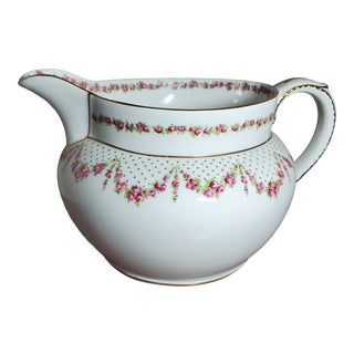 1920s George Jones & Sons Crescent China Pitcher For Sale