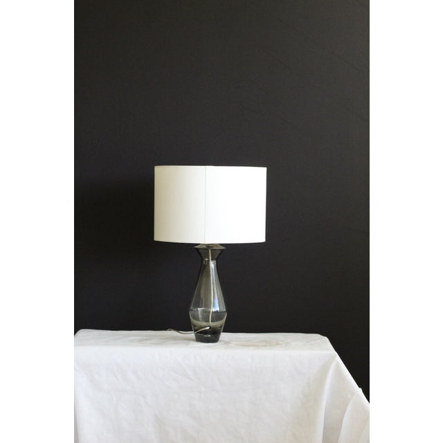 Mid-Century Modern Sculptural Art Glass Table Lamp For Sale - Image 3 of 7