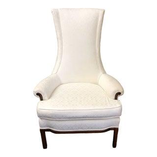 Vintage Custom High Back Arm Chair For Sale
