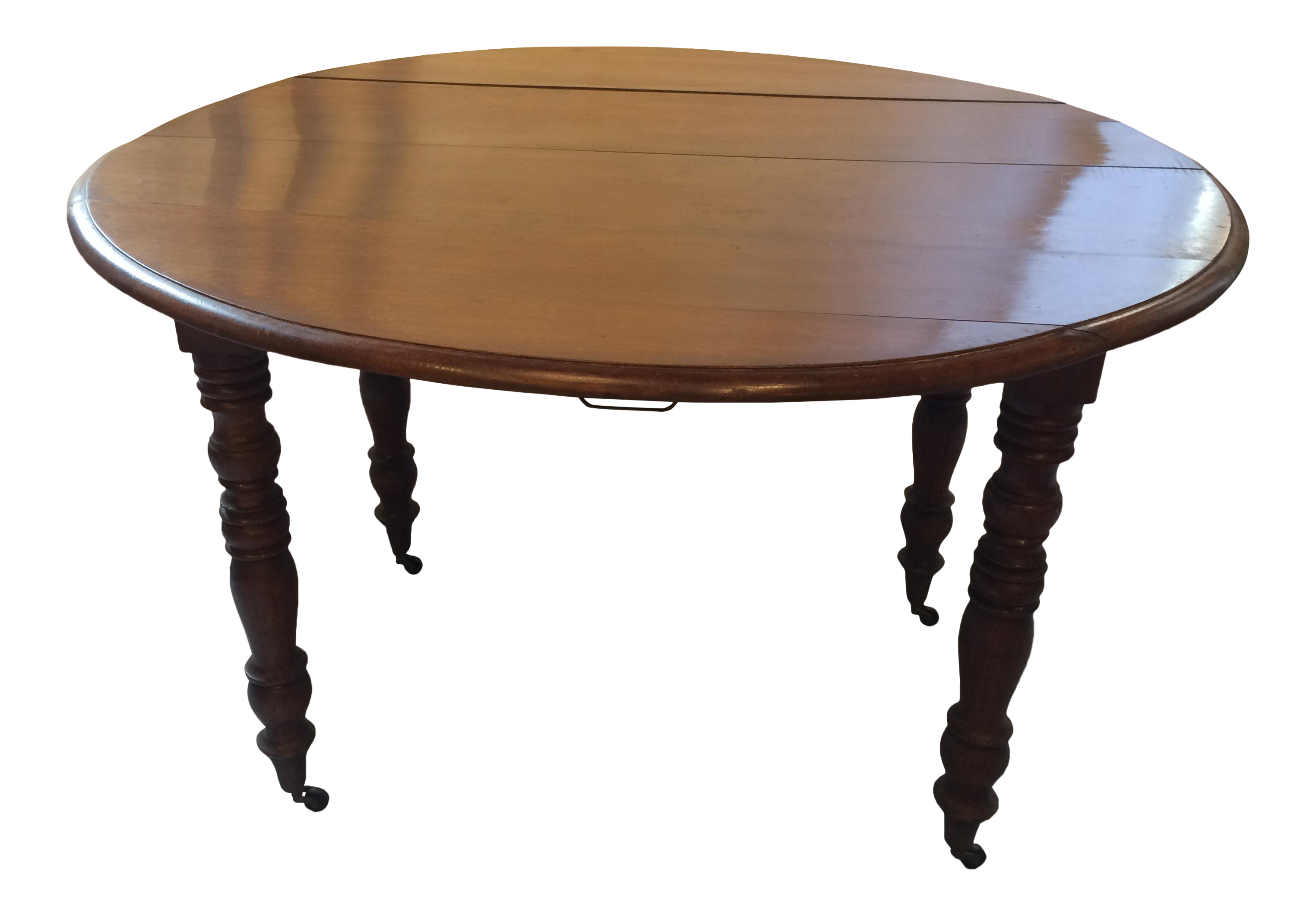 Etonnant Louis Philippe Walnut Drop  Leaf Table
