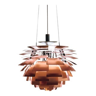 Monumental Poul Henningsen Copper PH Artichoke Chandelier for Louis Poulsen