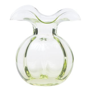 Vietri Green Hibiscus Bud Vase from Kenneth Ludwig Home For Sale