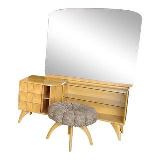 Heywood Wakefield Bedroom Set - 5 Pieces Sculptura For Sale