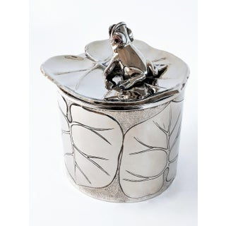 1980s Vintage Silver Plated Frog and Lily Pad Ice Bucket Preview