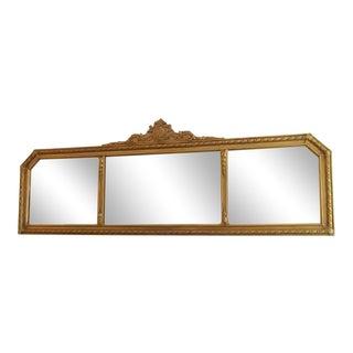 1930s Art Deco Style Wood Framed Wall Mirror