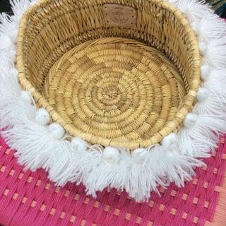 Moroccan White Tassel Small Basket Preview