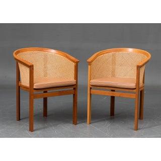 1980s Scandinavian Modern Rud Thygesen and Johnny Sørensen King Series Armchairs - Set of 6 Preview