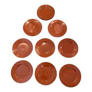 Taitu Uno Terra Cotta Accent Salad Plates - Set of 12 For Sale