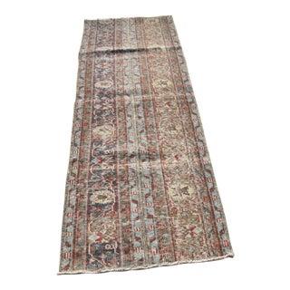 Floral Rug, Turkish Handmade Rug, Turkish Vintage Runner Rug, Tribal Rug, Wool Area Rug, 2 X 7.2 Feet For Sale