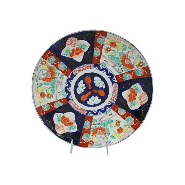 Asian Antique Japanese Porcelain Charger For Sale - Image 3 of 3