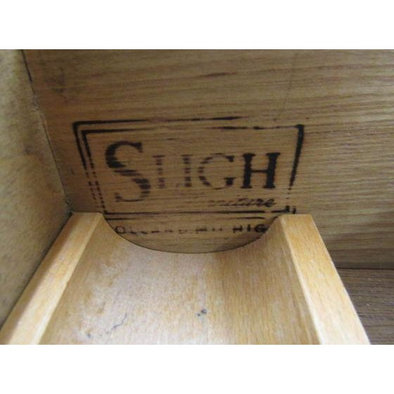Sligh Leather Top Ladies Writing Desk & Chair For Sale - Image 9 of 11