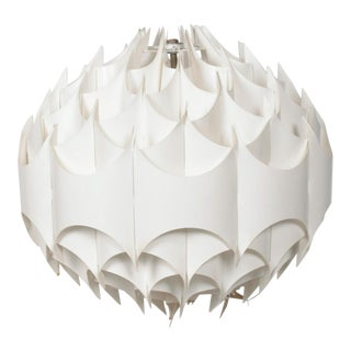 MidCentury Vintage Modern Plastic Spherical Hanging Lamp For Sale