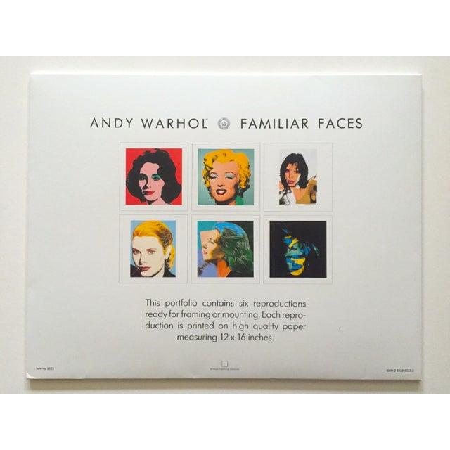 "Andy Warhol Estate Rare Vintage 1989 "" Familiar Faces "" Portfolio Collector's Pop Art Lithograph Prints - Set of 6 For Sale - Image 11 of 13"