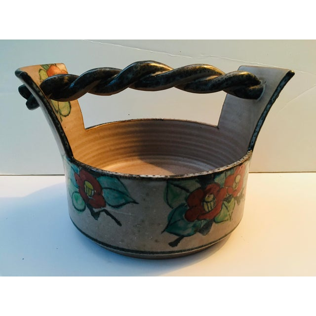 1930s Japanese Art Deco Pottery Bowl For Sale - Image 5 of 9