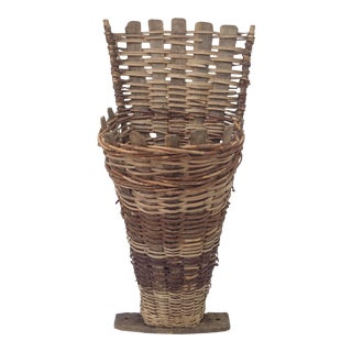 French Wicker & Wood Grape Hod
