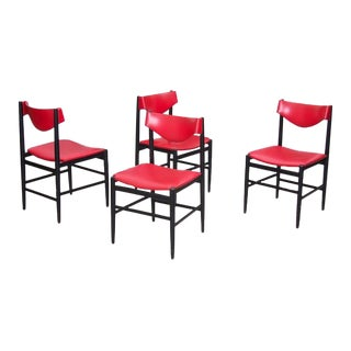 Set of Four Chairs by Gianfranco Frattini for Cassina For Sale