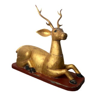 South East Asian Seated Deer For Sale