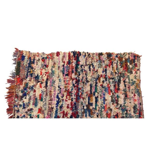 """Vintage Boucherouite Rag Rug - 3'7"""" x 6' - Image 1 of 3"""