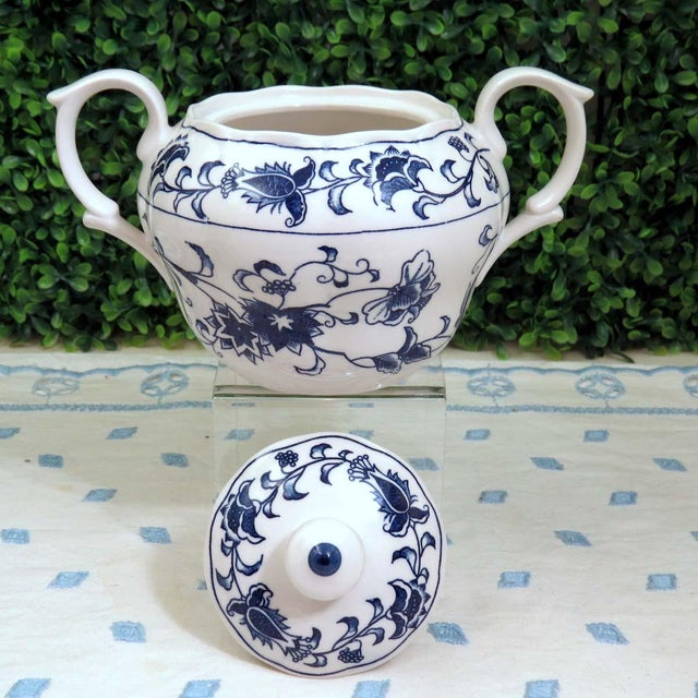 Vintage Mismatched Sugar Bowl & Creamer With Tray For Sale In Washington DC - Image 6 of 13