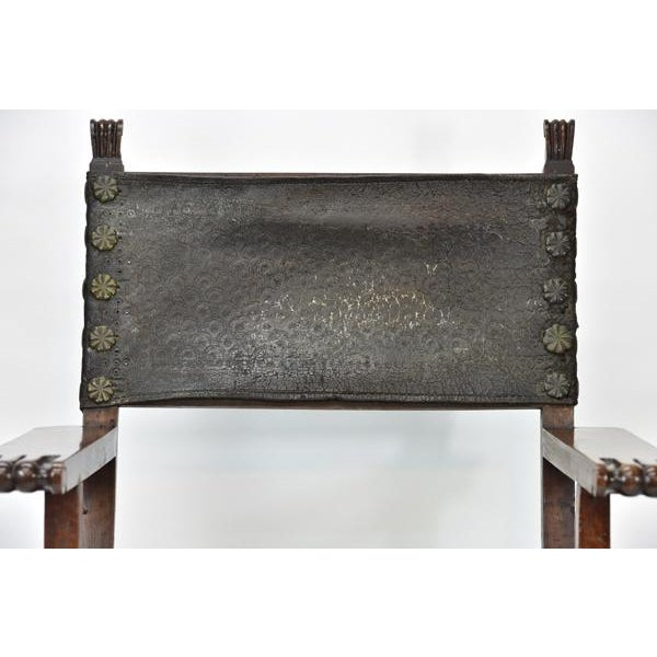17th C. Spanish Renaissance Friar Chair For Sale - Image 9 of 13