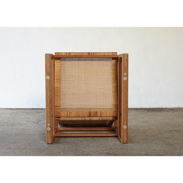 Børge Mogensen 2256 Oak and Cane Sled Lounge Chair, Fredericia, Denmark, 1950s For Sale - Image 11 of 13