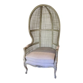 Vintage Cane Porter's Chair