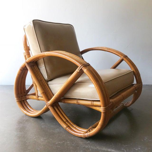 Vintage Calif Asia 3 Band Pretzel Rattan Chair Chairish