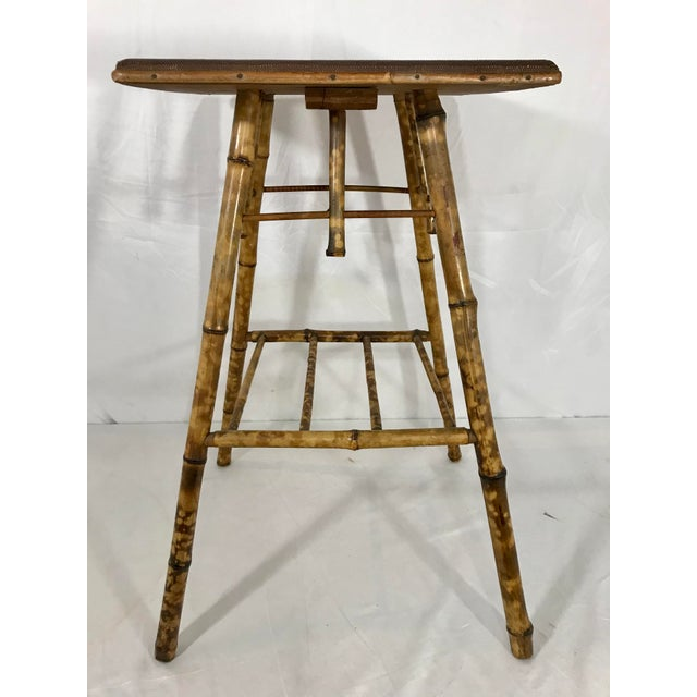 Late 19th Century English Victorian Bamboo Side Table For Sale - Image 5 of 8