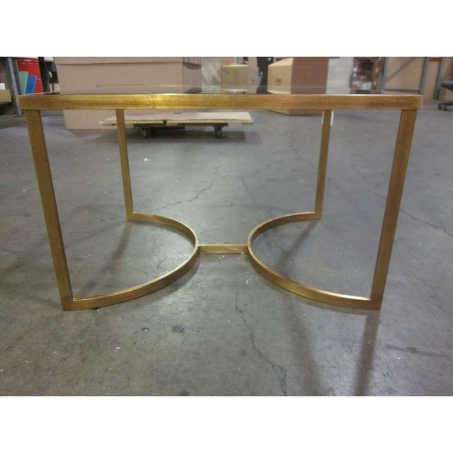 Italian Gilt Iron Cocktail Table in the Style of Maison Bagues For Sale - Image 4 of 7