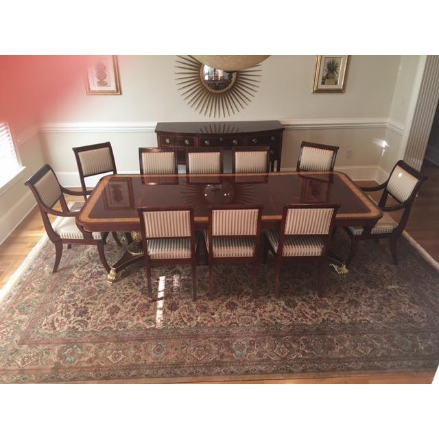 Baker Mahogany & Gold Regency Dining Set - Image 5 of 5
