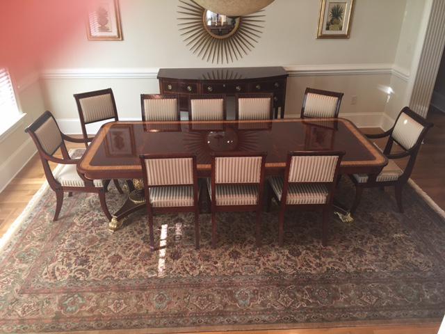 Charmant Baker Mahogany U0026 Gold Regency Dining Set For Sale   Image 5 ...