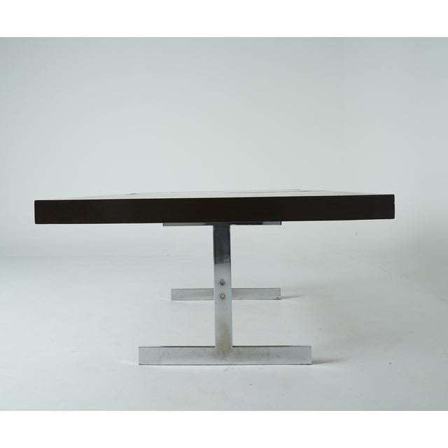 Expandable Mixed Wood Milo Baughman Dining Table - Image 4 of 7