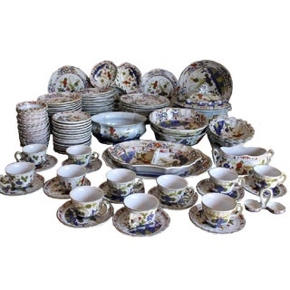 Large Collection of Italian Garfano Faenza Pottery, 114 Pieces