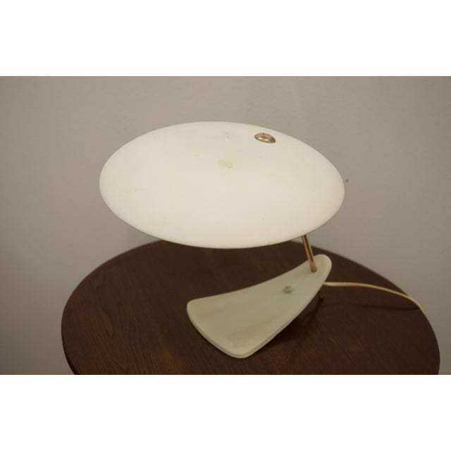 Mid-Century Brass & Steel Table Lamp For Sale - Image 6 of 8