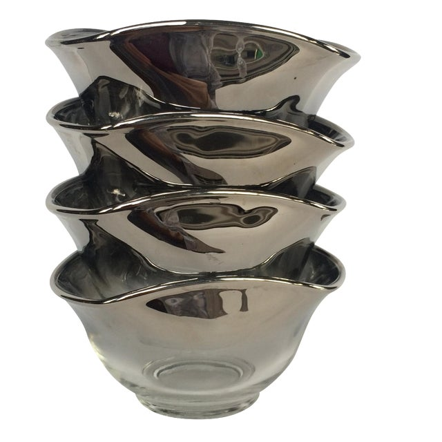 Silver Ombre Bowls- Set of 4 - Image 1 of 7