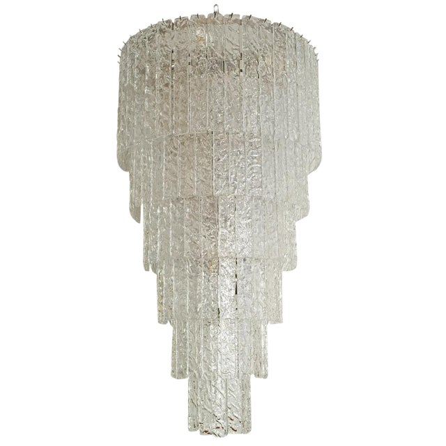 Barovier and Toso Murano Glass Chandelier For Sale