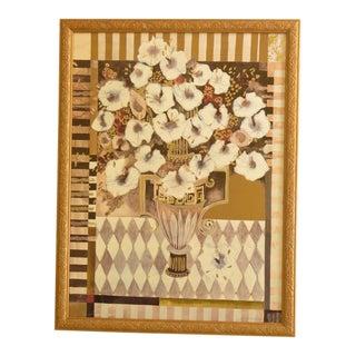 Floral Urn Framed Decorative Wall Art Print For Sale