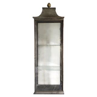 Vintage Italian Steel and Glass Cabinet For Sale