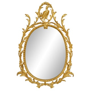 19th Century English Georgian Style Gilt Filigree Wall Mirror For Sale