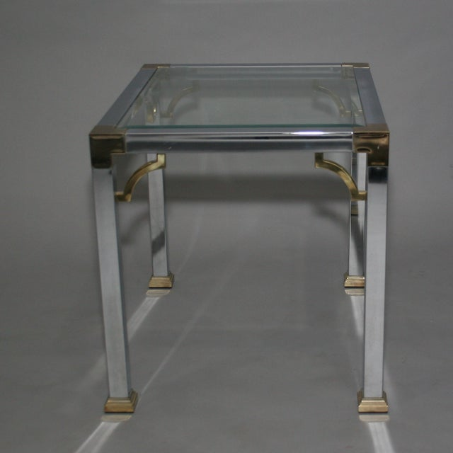 Mastercraft Chrome Brass Chinoiserie Side Table - Image 9 of 9