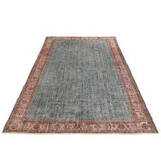 Distressed Vintage Turkish Carpet | 7'2 X 10'4 For Sale